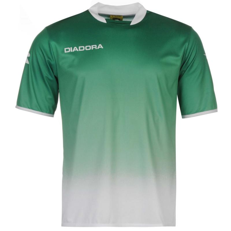 Diadora Moron Training T Shirt Mens Green/White