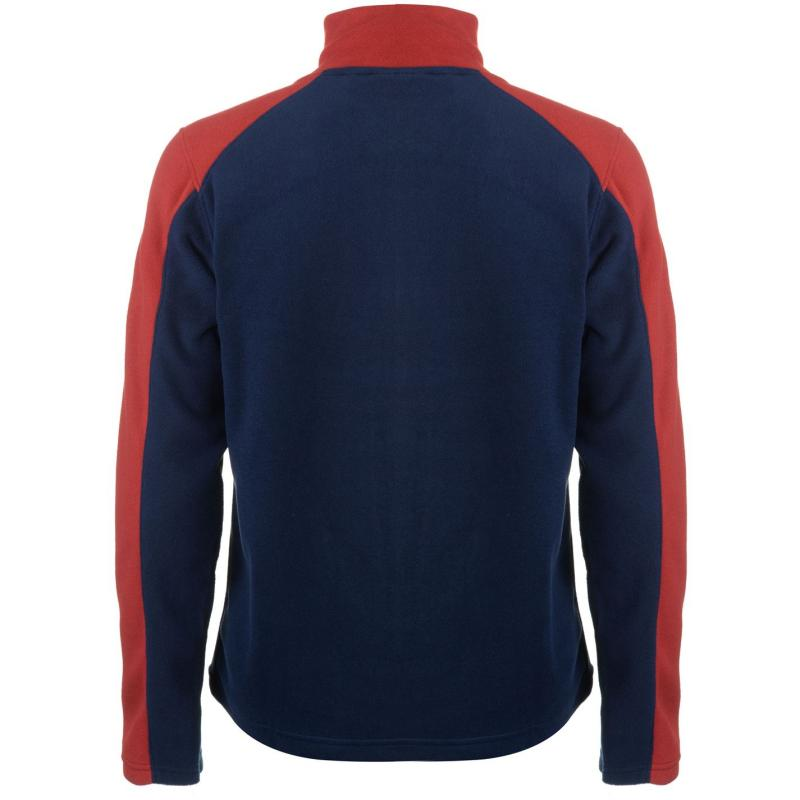 Mikina Pierre Cardin Full Zip Fleece Mens Navy/Red