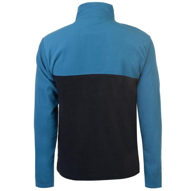 Mikina Pierre Cardin Quarter Zip Fleece Mens Navy/Cobalt