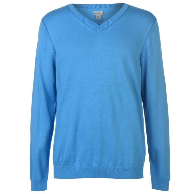 Ashworth Sweater Mens Marq Blue