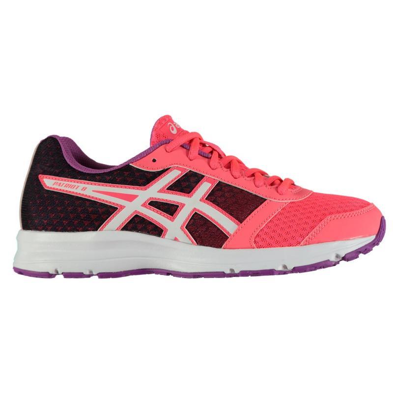 Asics Patriot 8 Ladies Running Shoes Pink/White