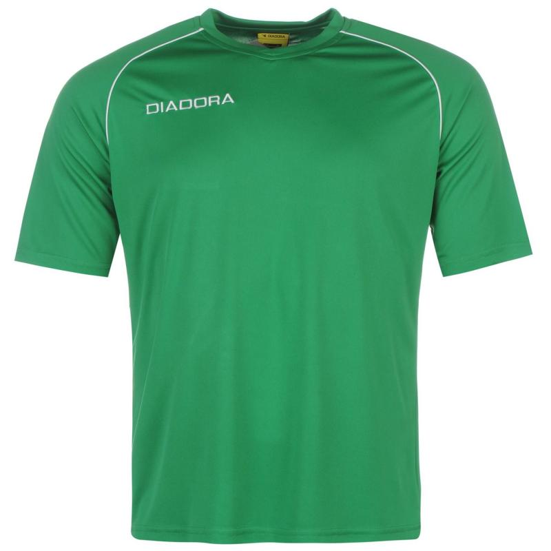 Diadora Madrid T Shirt Mens Green/White