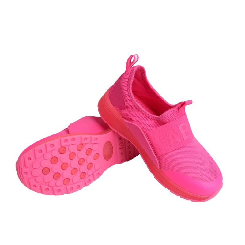 Boty Fabric LED Slip On Trainers Child Pink