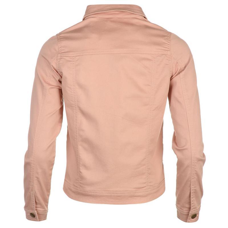 Golddigga Classic Denim Jacket Ladies Blush