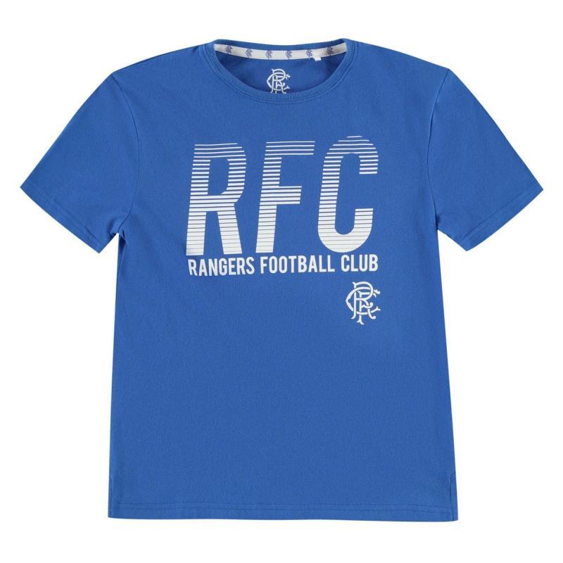 Team Rangers Lined T Shirt Junior Boys Royal