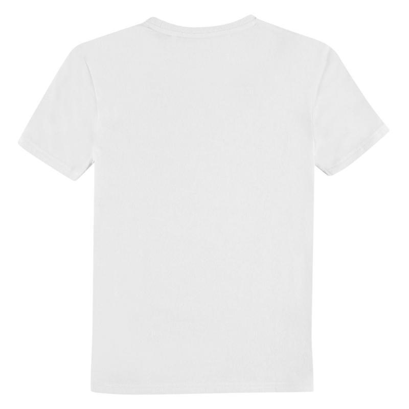 Team Rangers Lined T Shirt Junior Boys White