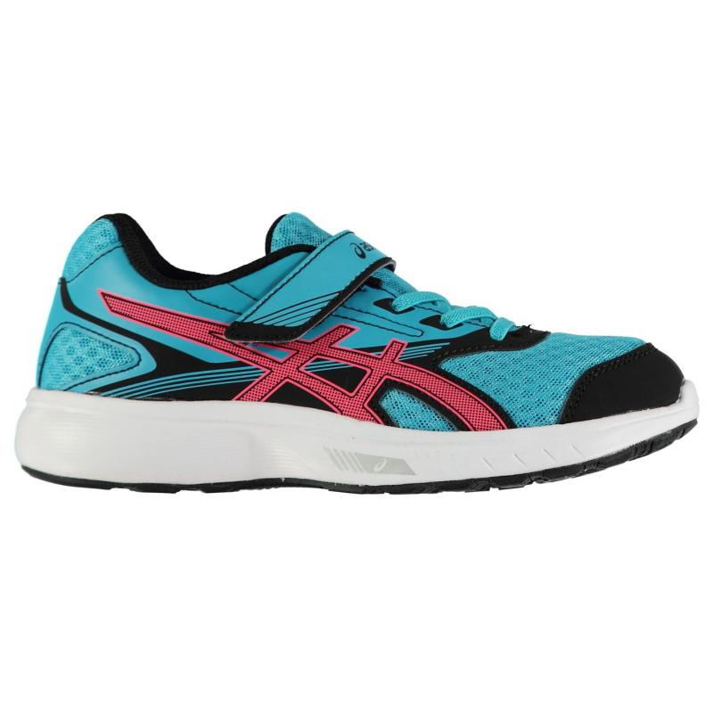 Asics Stormer Trainers Junior Girls Blue/Pink