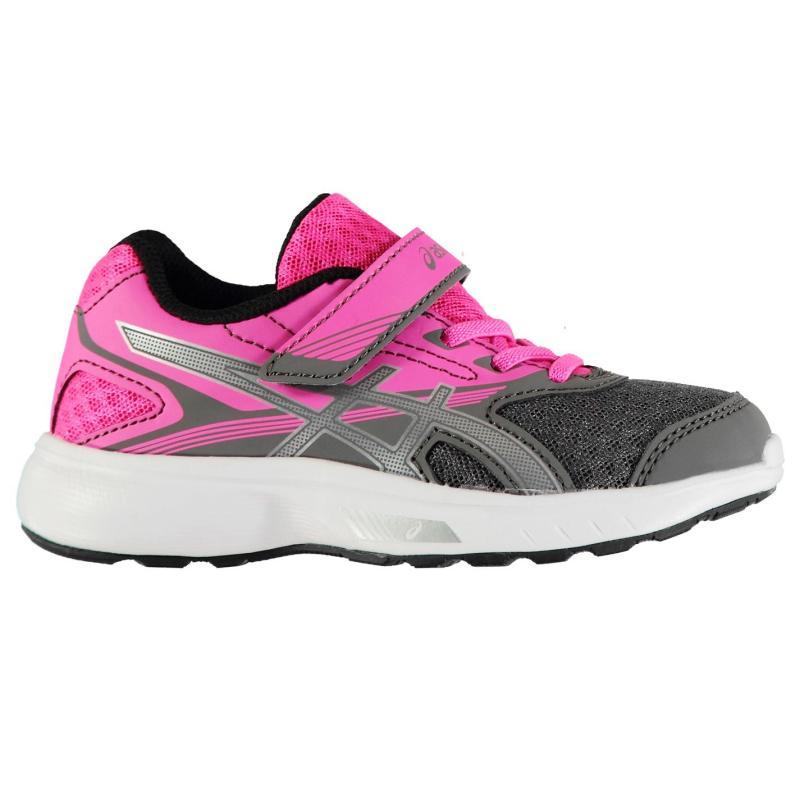 Asics Stormer Trainers Junior Girls Blue/Pink