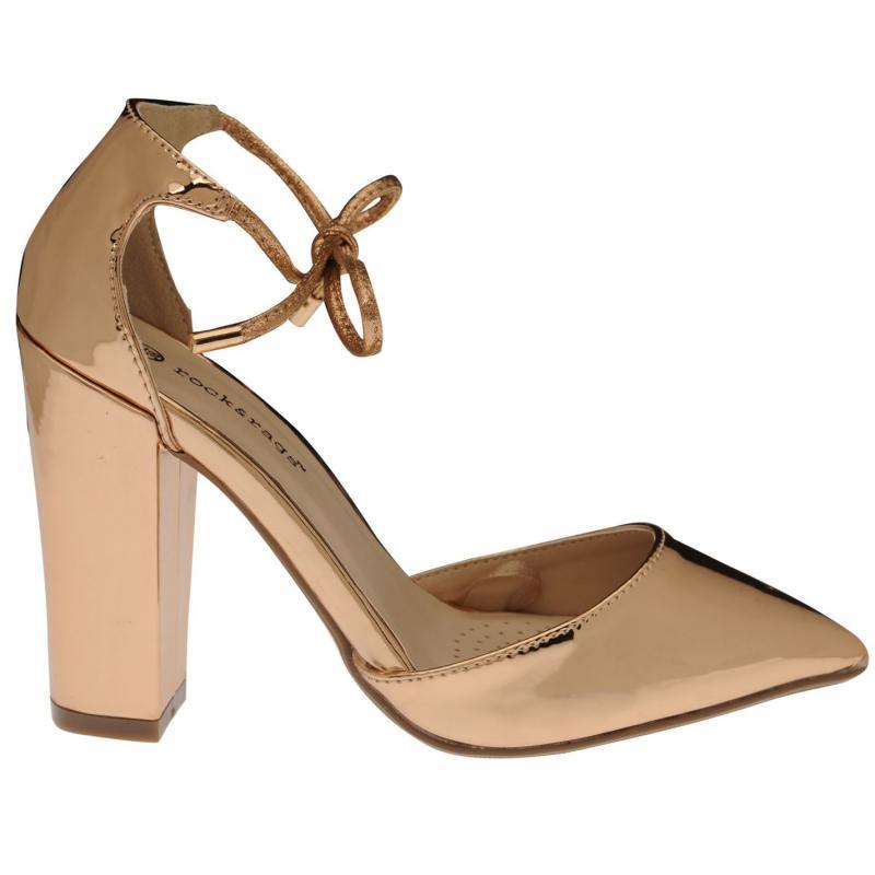 Full Circle Tie Court Sandals Rose Gold