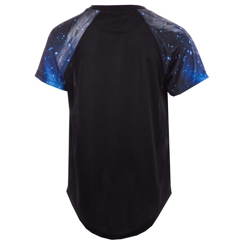 Tričko Beck And Hersey Junior Boys Sub Astro Sleeve T-Shirt black blue