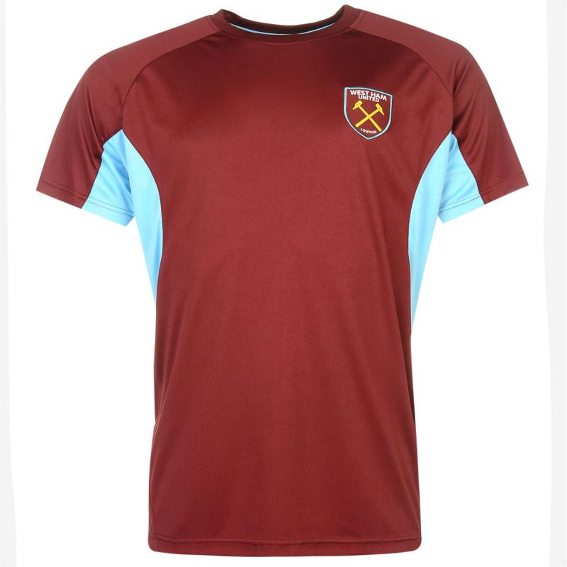 Source Lab West Ham United T Shirt Mens Claret/Blue