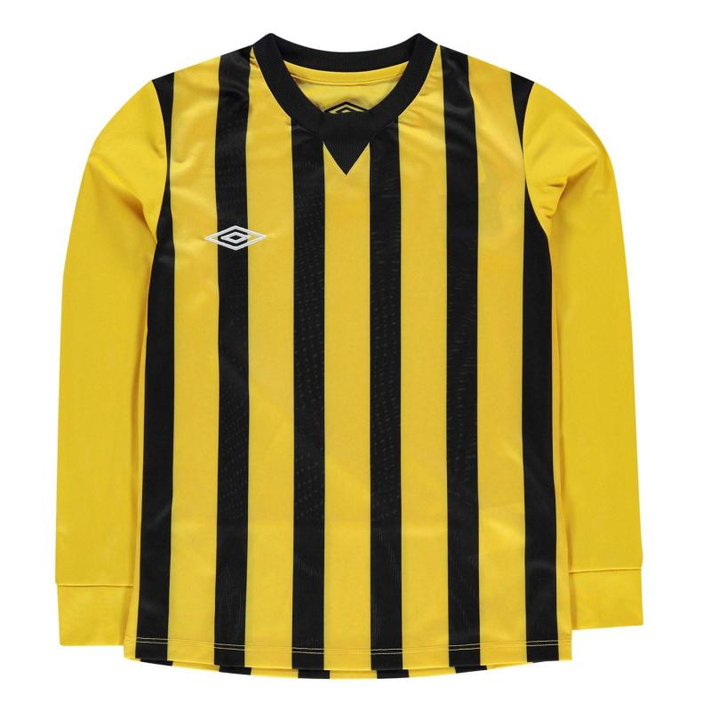 Tričko Umbro Stripe Knit Jersey Junior Boys Yellow