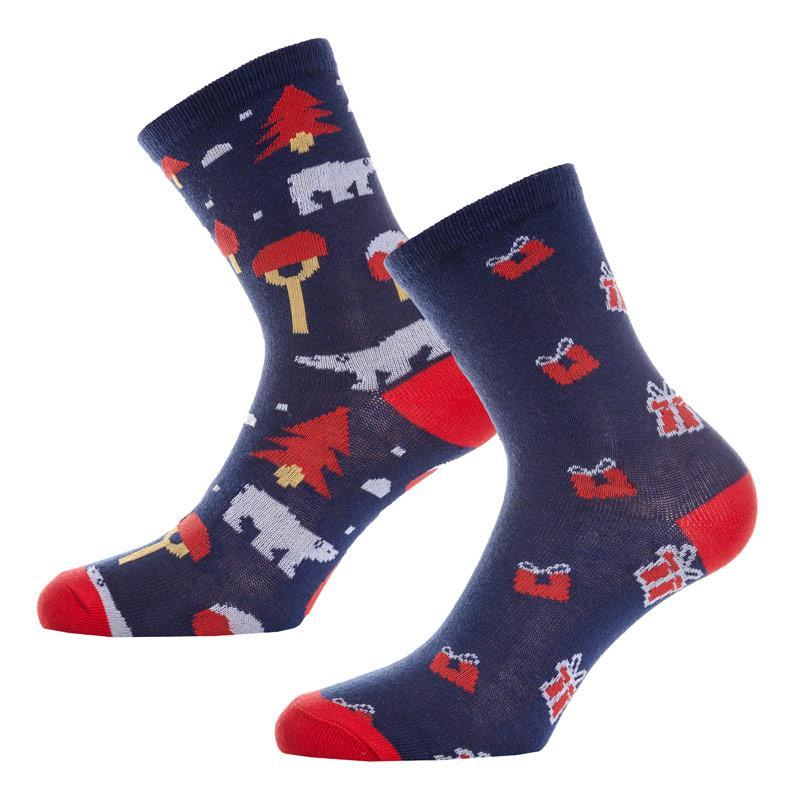 Ponožky Vero Moda Womens 2 Pack Christmas Sock Box Navy