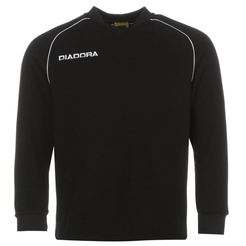Tepláky Diadora Madrid Sweatshirt Mens Black