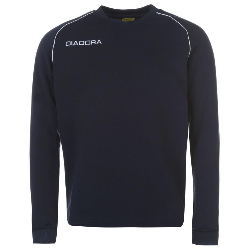 Tepláky Diadora Madrid Sweatshirt Mens Grey Melange