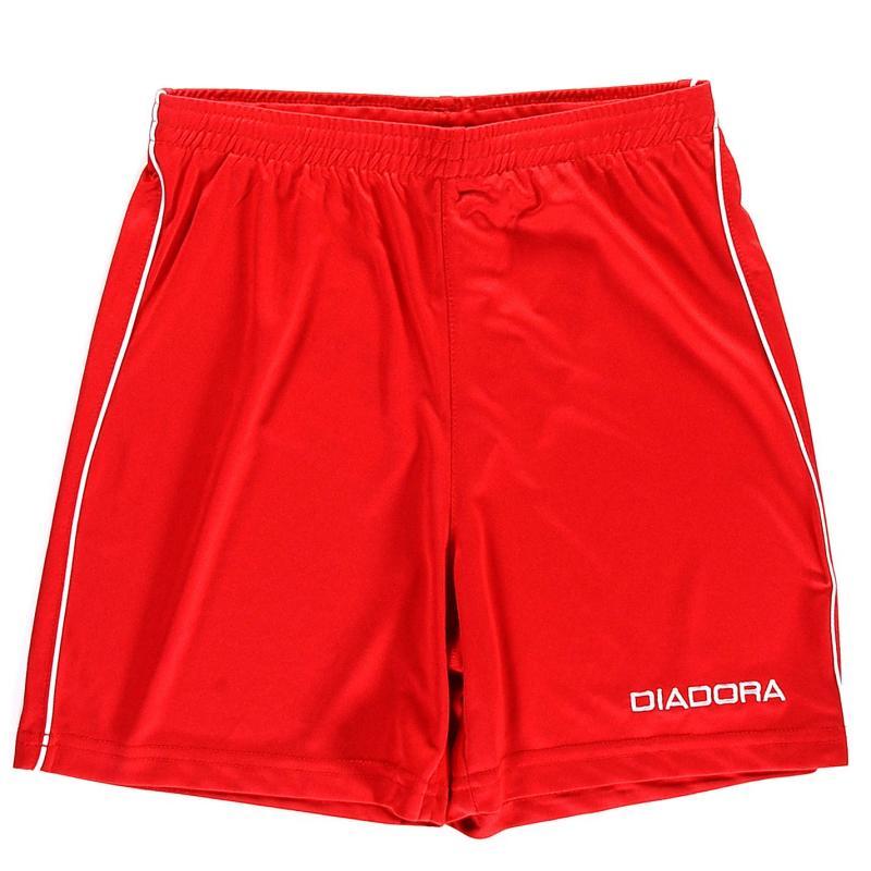 Kraťasy Diadora Madrid Shorts Junior Boys White/Red