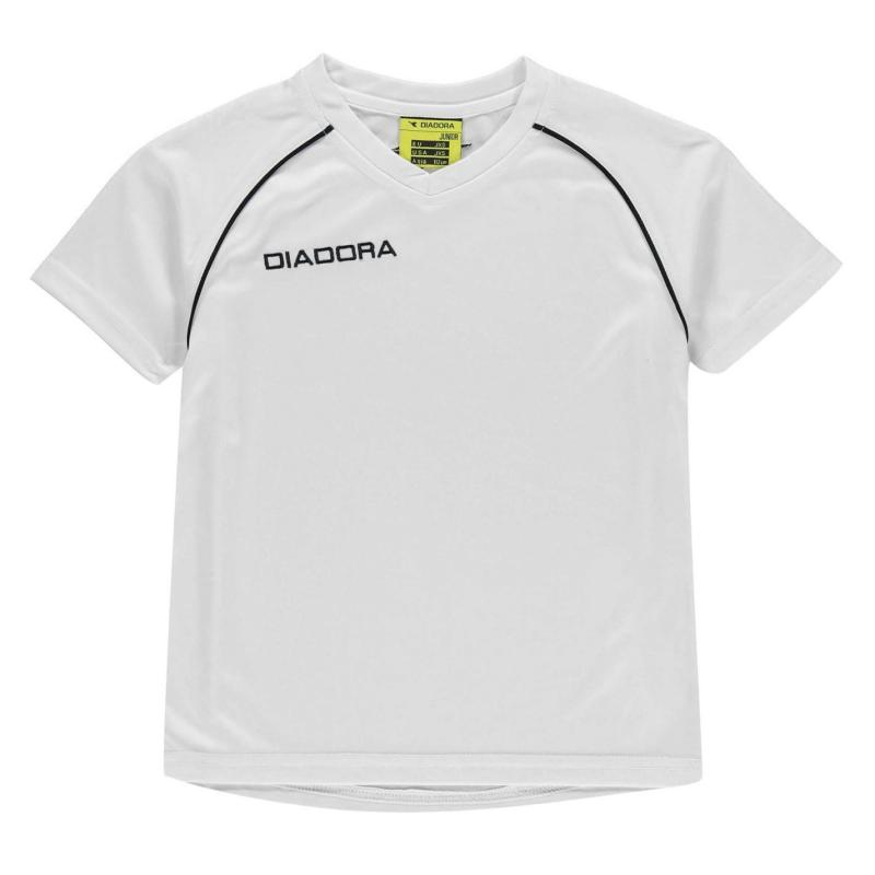 Tričko Diadora Madrid T Shirt Junior Boys Orange/White