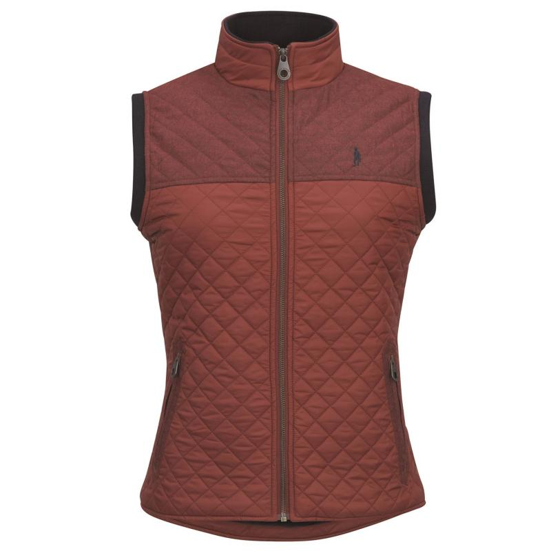 Jack Murphy Kris Quilted Gilet Red Brick