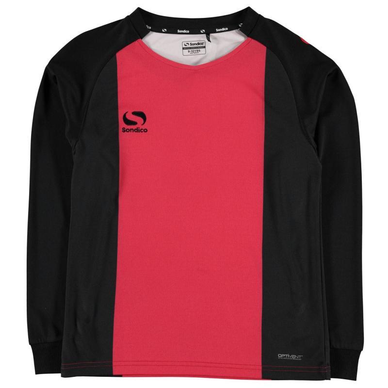 Tričko Sondico Valencia Jersey Junior Boys Red/Black