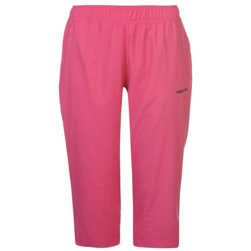 Sportovní kalhoty HEAD Club W Capri Pants Ladies Pink