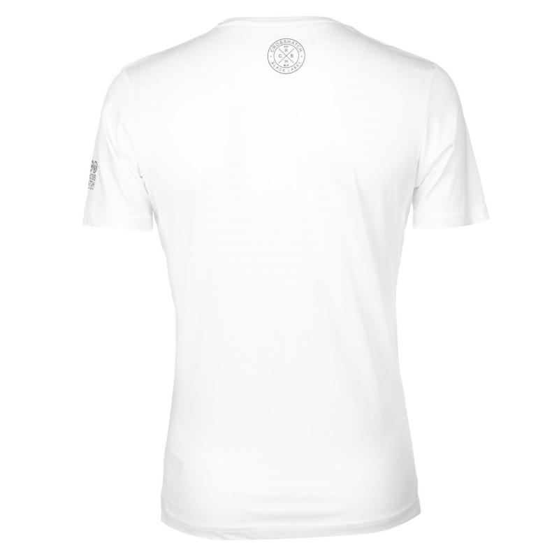 Tričko Crosshatch NY 65 T Shirt Mens White