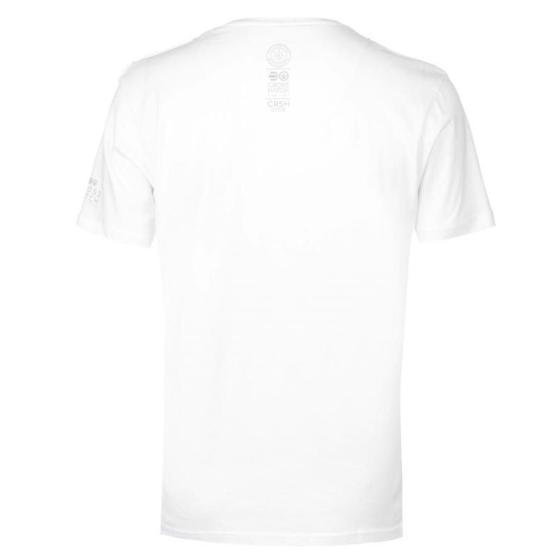 Tričko Crosshatch Tonwdown T Shirt Mens White