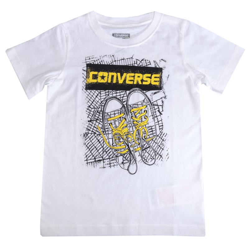 Tričko Converse Infant Boys Bk Map T-Shirt White