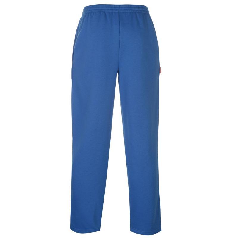 Tepláky Slazenger Open Hem Fleece Pant Mens Blue