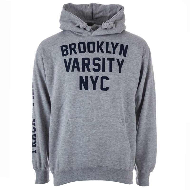 Mikina Varsity Team Players Mens Brooklyn Varsity Hoody Grey Marl