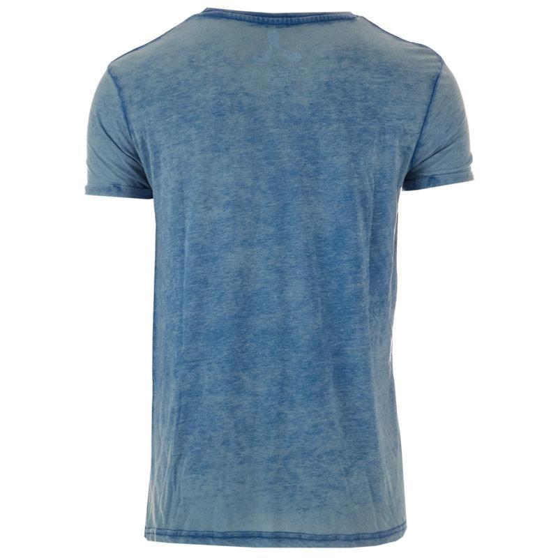 Tričko Get The Label Mens Burnout Dance T-Shirt Denim