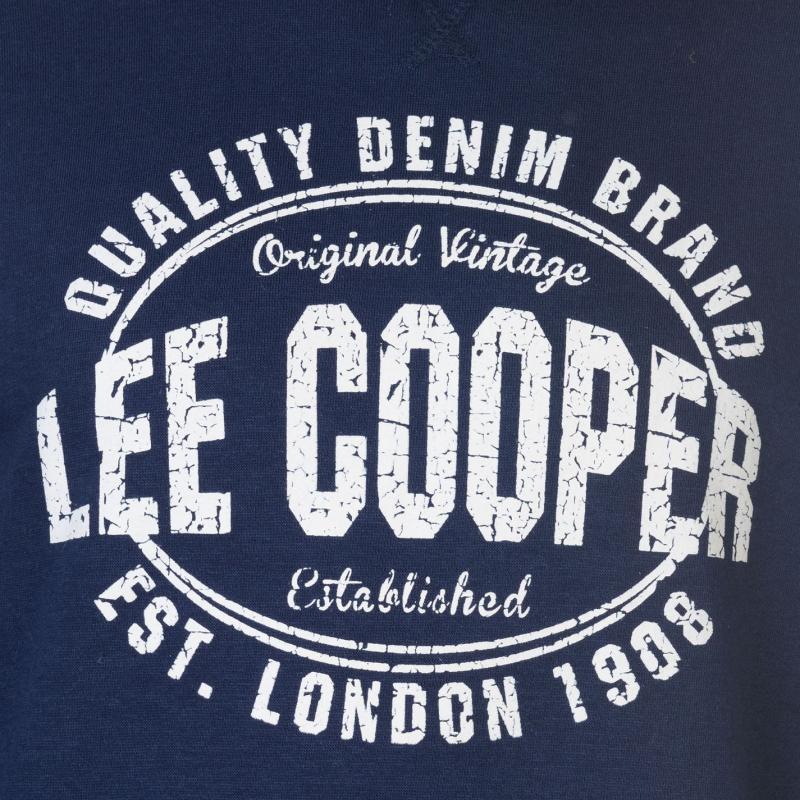 Mikina Lee Cooper Crew Logo Sweater Mens Navy