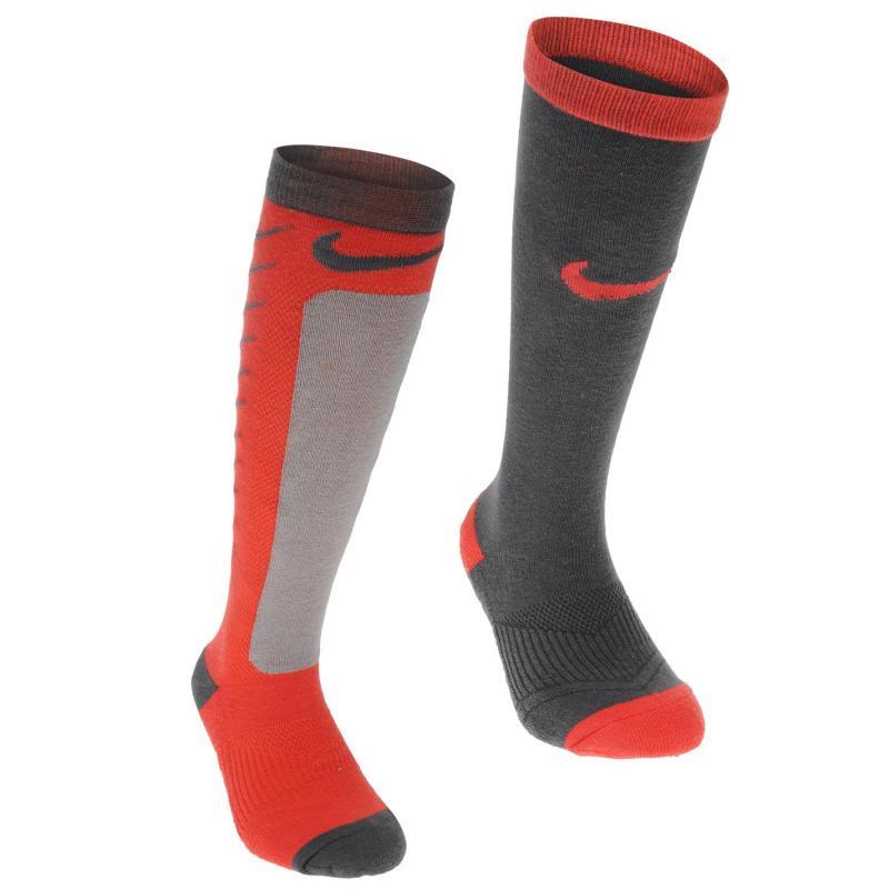 Ponožky Nike 2 Pack Socks Childrens Bright Crimson