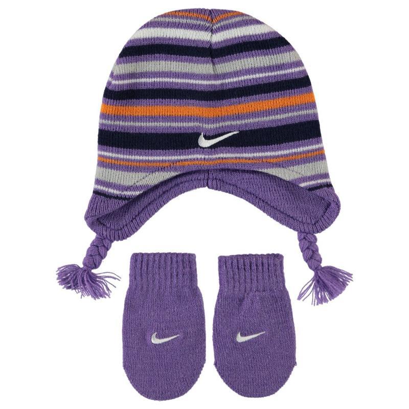 Nike Beanie and Mittens Set Infant Girls Iris