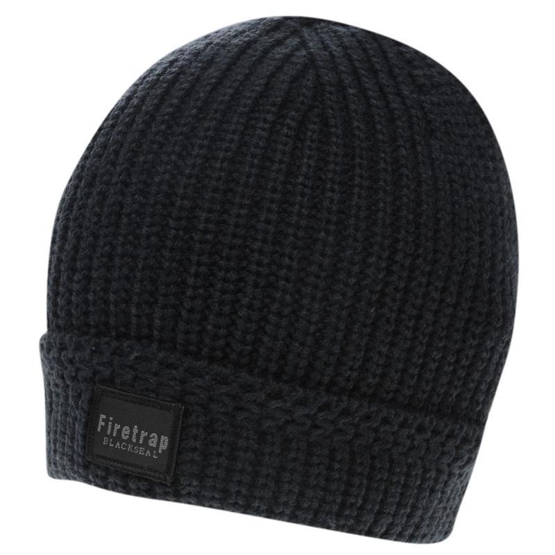 Firetrap Blackseal Ribbed Hat Red