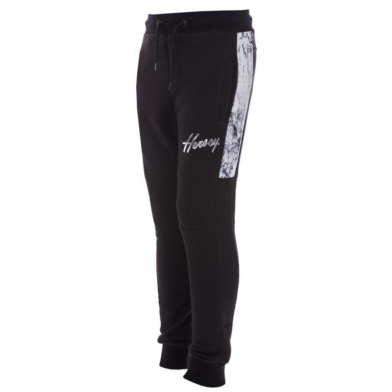 Kalhoty Beck And Hersey Junior Boys Sub Marble Jog Pants Black Grey
