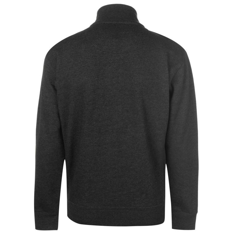 Mikina Kangol Classic Funnel Neck Sweater Mens Charcoal Marl