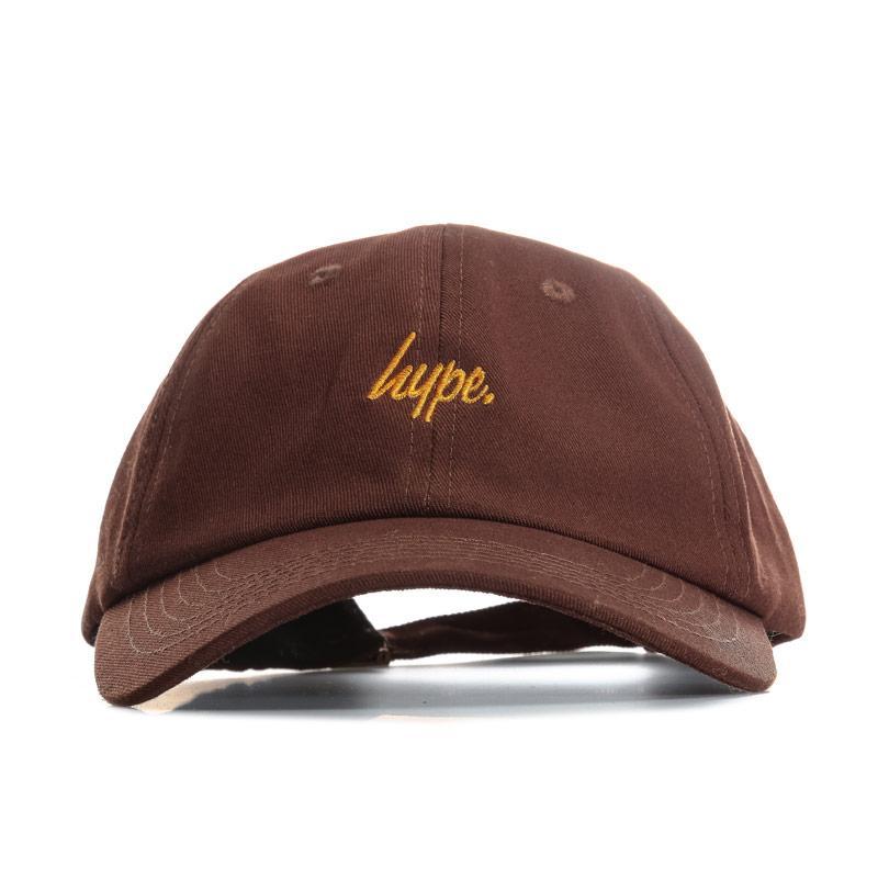 Hype Mens Script Dad Cap Brown