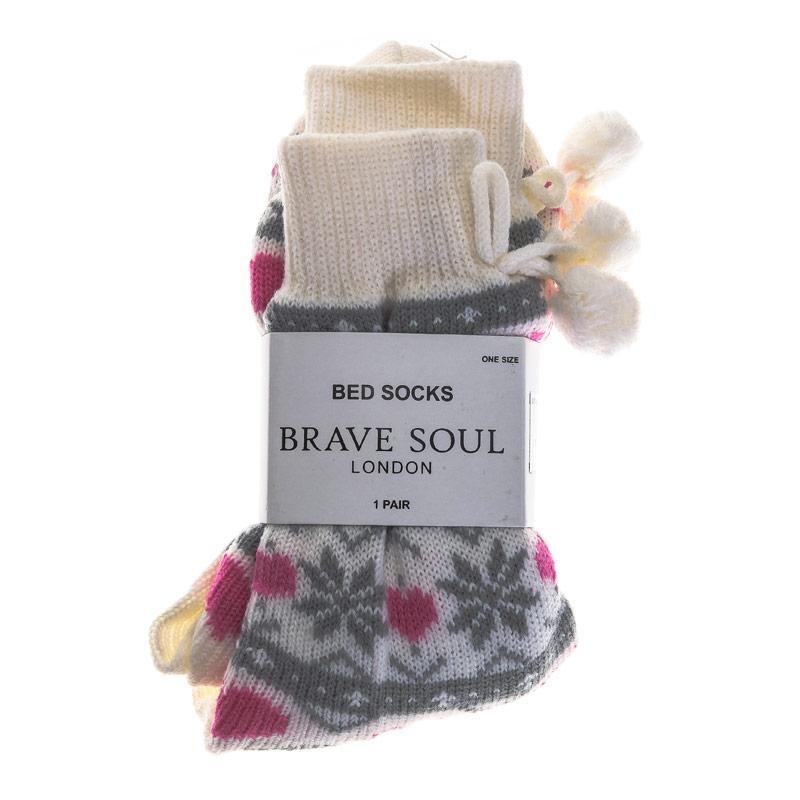 Ponožky Brave Soul Womens Heart Bed Socks Multi colour