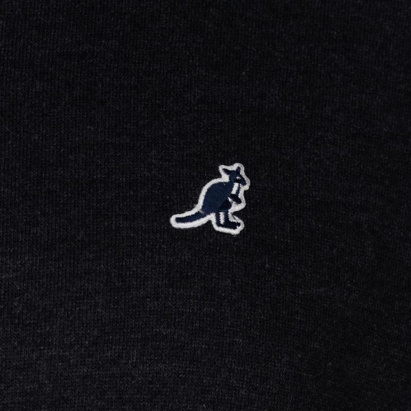 Mikina Kangol Classic Crew Sweater Mens Charcoal Marl