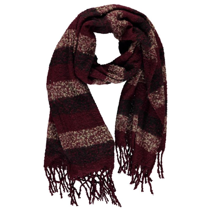 SoulCal Blanket Scarf Ladies Red Stripe