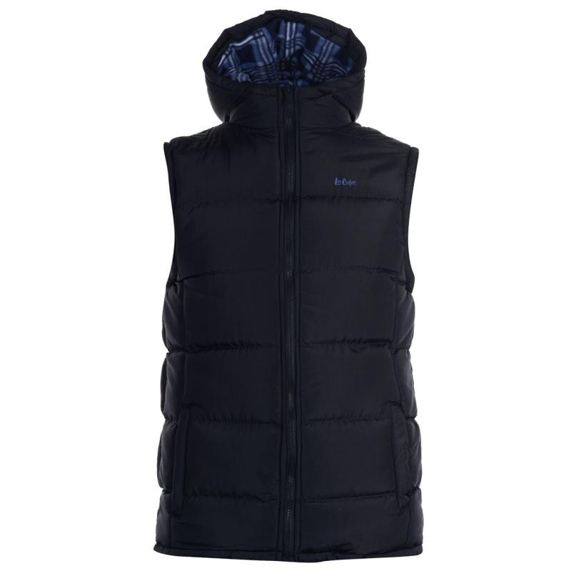 Lee Cooper 2 Zip Gilet Mens Navy