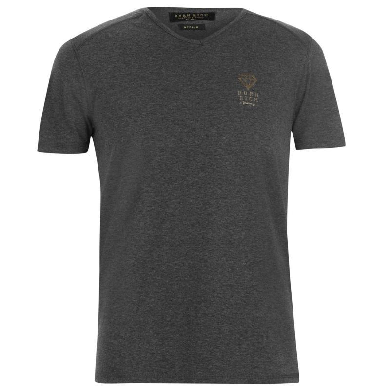 Tričko Born Rich Agate T Shirt Mens Black