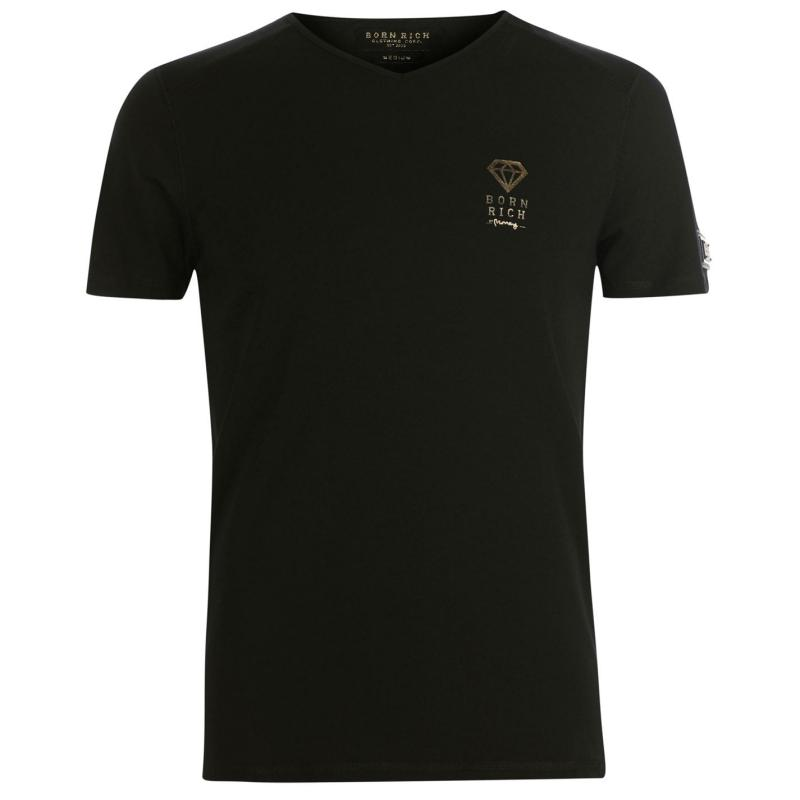 Tričko Born Rich Agate T Shirt Mens White
