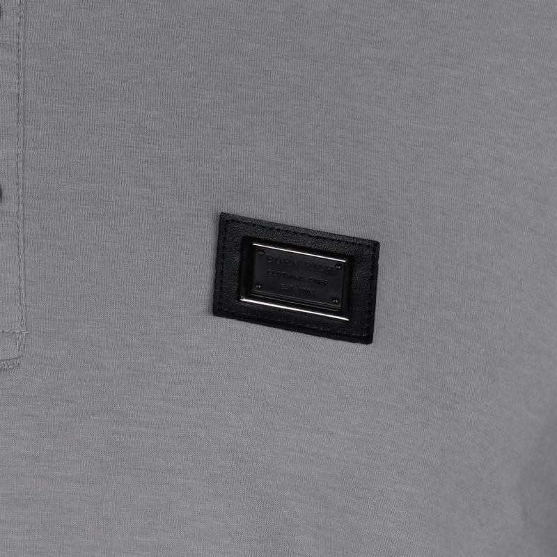 Born Rich Bastian Polo Shirt Mens Alloy Marl
