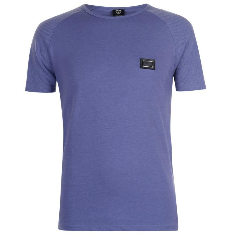 Tričko Born Rich Robben T Shirt Mens Black Marl