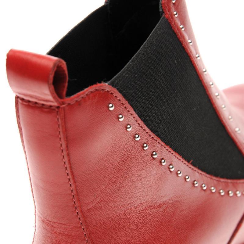 Bronx Strut Chelsea Boots Red Vintage