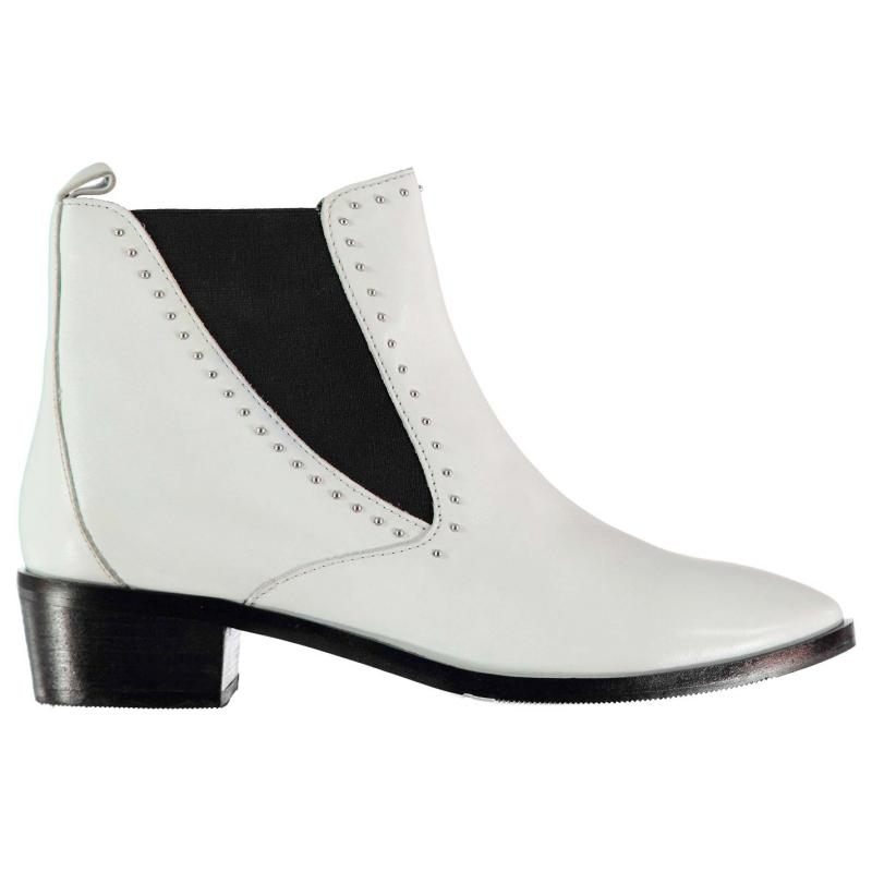 Bronx Strut Chelsea Boots White Vintage