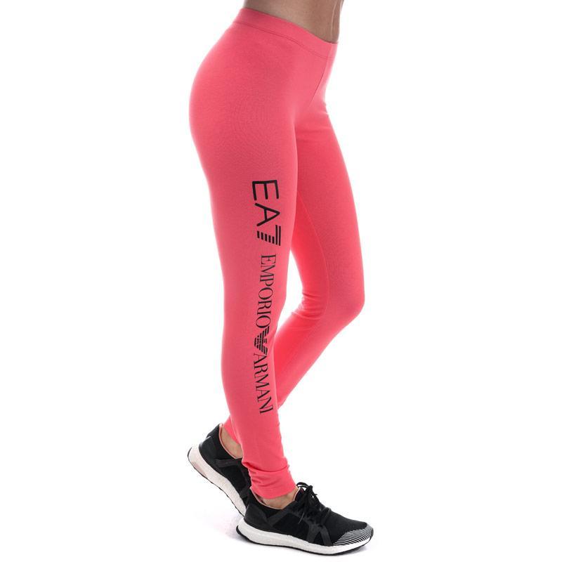 Legíny Emporio Armani EA7 Womens Train Logo Series Leggings Grey Marl Velikost - 8 (XS)