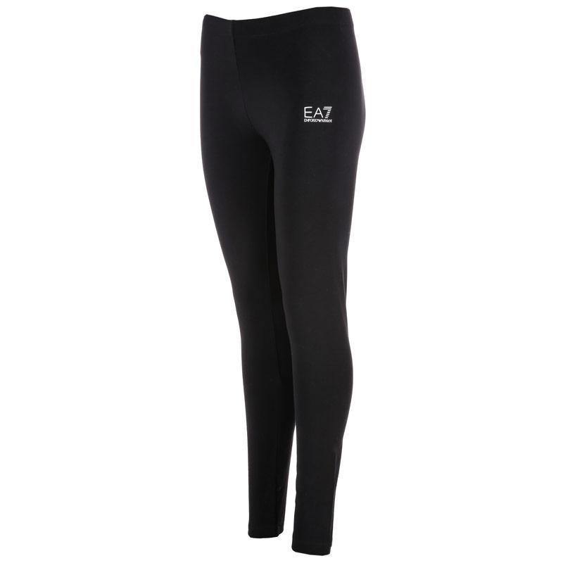 Legíny Emporio Armani EA7 Womens Train Logo Series Leggings Black