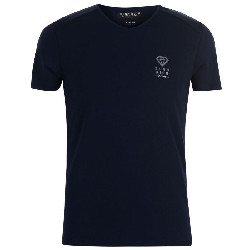 Tričko Born Rich Agate T Shirt Mens Charcoal Marl